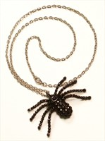 Necklace with spider strass