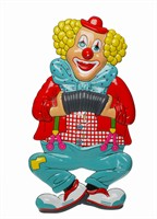 Wall decoration clown accordion 51 x 25 cm
