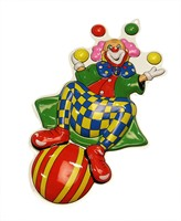 Wall decoration clown & ball 60 x 32 cm