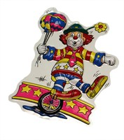 Wall decoration clown & unicycle 40 x 30 cm