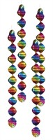 Decoration-spiral rainbow 4 pcs (Ø=7 cm)