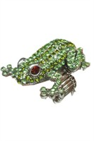Frog ring with rhinestones