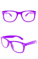 Glasses purple with clear glass