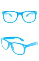 Glasses blue with clear glass