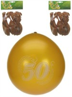 Balloons gold 50 years jubilee 8 pcs.