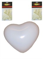 Balloons white heart 32cm 6 pcs.