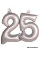 Number 25 silver inflatable