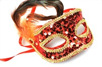 Mask sequins red