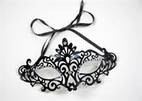 Mask jewels black plastic