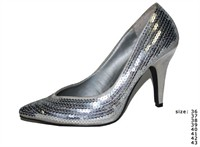 Shoes silver high heels
