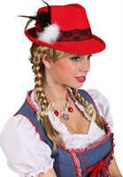 Bavarian hat Oktoberfest red lady