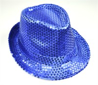 Hat sequins blue