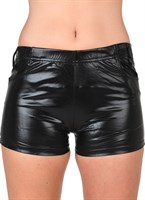 Hotpants zwart latex