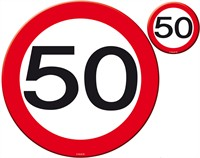 Table coaster traffic sign 50