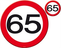 Table coaster traffic sign 65