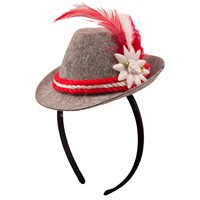 Hair circlet hat Oktoberfest red/white