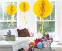 Honeycomb ball yellow 30cm