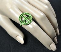 Ring peace groen