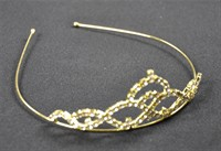 Diadem Strass gold