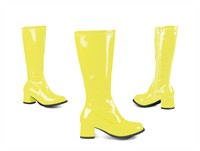 Stretch Stiefel neon gelb (Kind)
