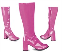 Boots fuchsia with wide shaft