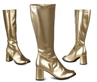 Boots gold with wide shaft