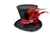Top Hat luxury black hair clips