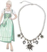 Traditional necklace dirndl with pearls