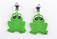 Earrings frog