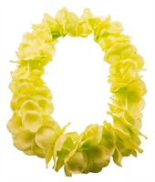 Hawaian necklace neon yellow