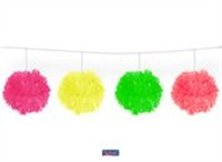 Pompom Garland colorful neon 3Meter