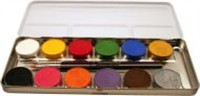 Aqua-paint box 12 colors metal