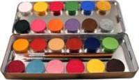 Aqua-paint box 24 colors metal