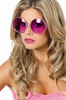 Glasses neon pink glamour