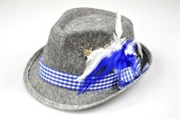 Traditional hat grey/blue