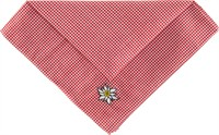 Traditional scarf red/white checkered