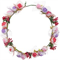 Floral wreath roses