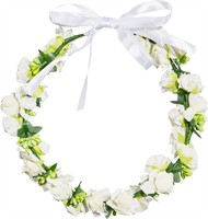 Floral wreath white