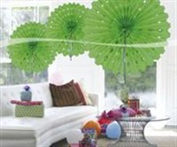 Honeycomb lime green decoration 45cm