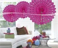 Honeycomb magenta decoration 45cm