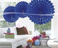 Honeycomb blue decoration 45cm