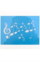 Makeup templates music notes 12x16cm