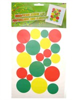 Window decoration sticker red/yellow/green