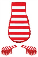 Epauletten red/white striped