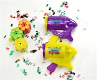 Confetti gun including 3x6 shot