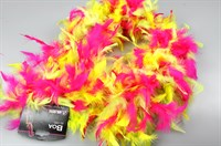 Boa fluor pink/yellow/green (L=180 cm)