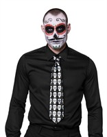 Krawatte Calavera Day of the Dead Halloween