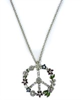 Kette Peace silber