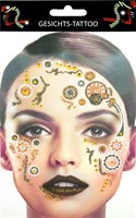 Sticker Gesicht gold Steampunk