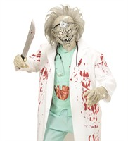 Mask zombie doctor with hair